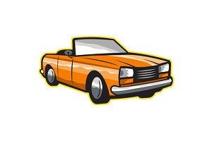 Vintage Cabriolet Top-Down Car
