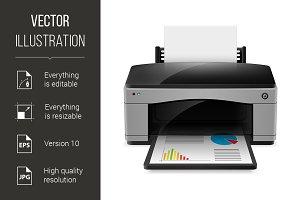 Realistic printer