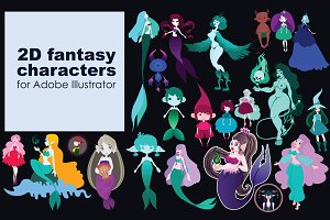 2D fantasy characters for AI