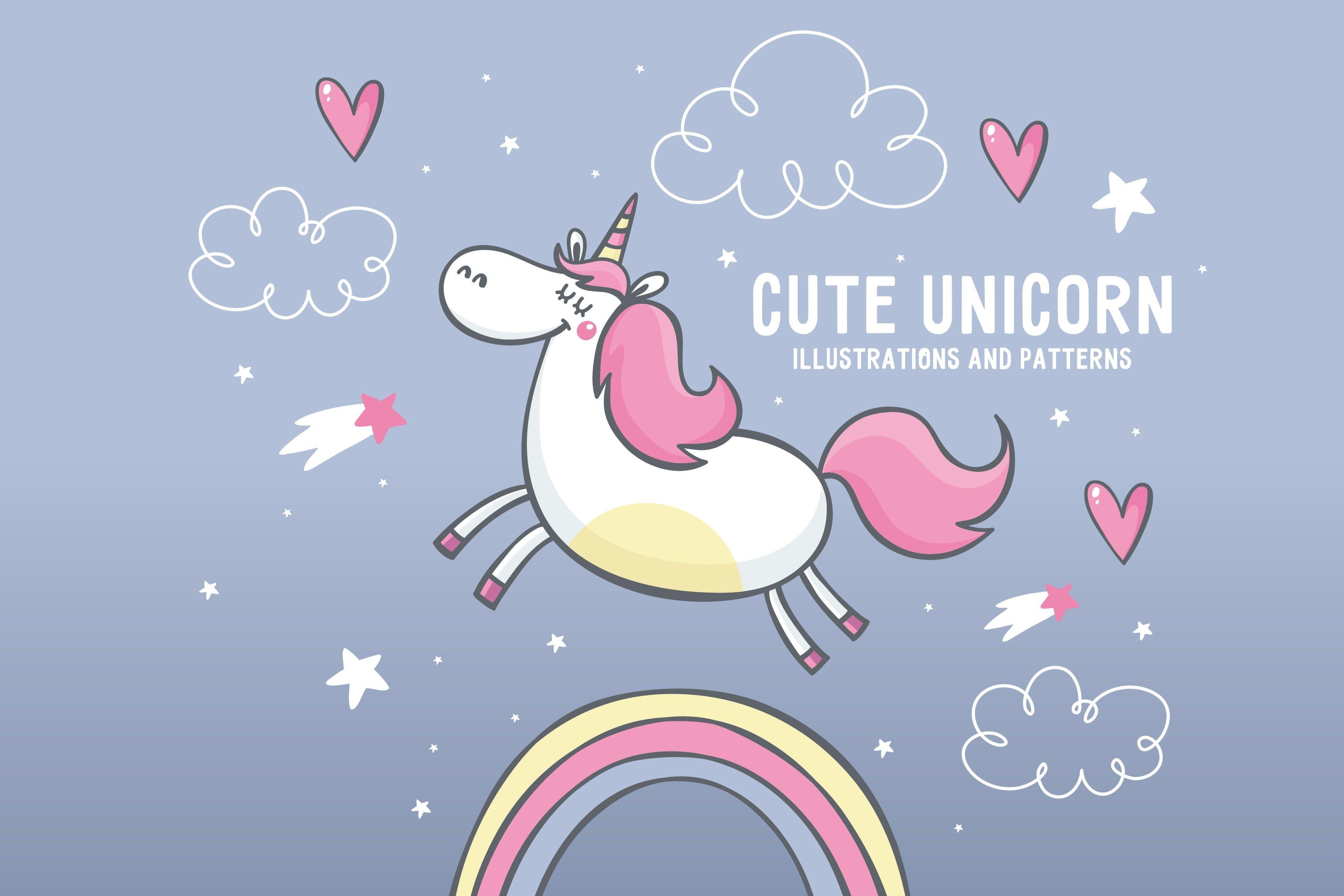 cute unicorn illustrations, pattern ~ Illustrations ...