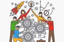 Teamwork vector concept
