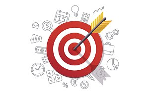 Dartboard arrow and icons