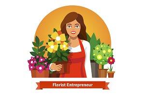 Florist business owner