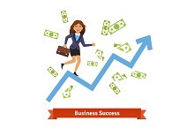 Business success & growth concept