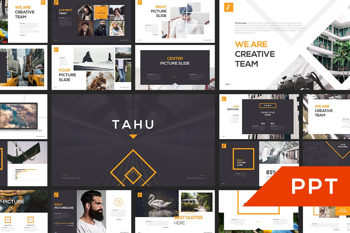 Tahu powerpoint template presentation templates creative market toneelgroepblik Image collections