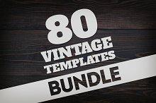 Bundle 80 Vintage Logos & Badges