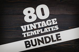 Bundle 80 Vintage Logos & Badges