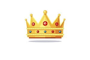 Shiny gold crown encrusted with jems
