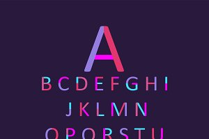 Neon font purple and pink vector