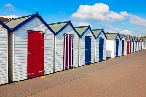 Beach Huts Preston Sands Devon