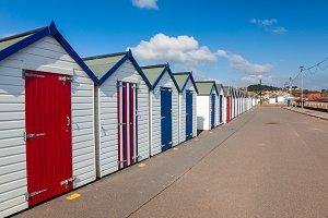 Beach Huts Preston Sands Devon