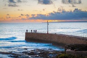 Porthleven Sunset Cornwall England