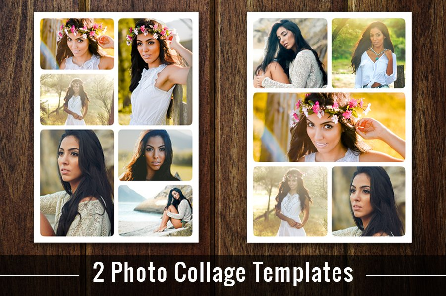 Photo Collage Template Photoshop PSD ~ Flyer Templates ~ Creative Market