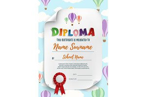 Diploma template.