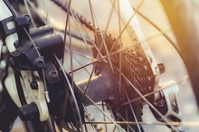 Bike wheel close up