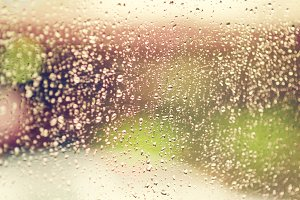 Rain dew drop on window