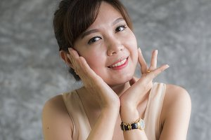 Portrait of cute smile asian woman