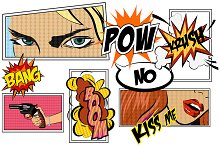 Comics pop art signs set_Vol.2