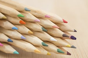 Group of color pencil