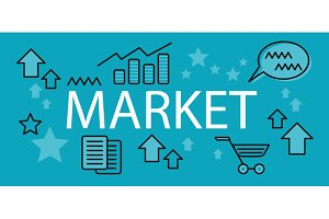 Market Business Concept Banner