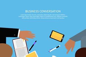 Business Conversation Concept