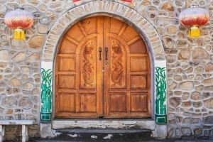 woodden door is china house.