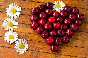 cherries.selective focus