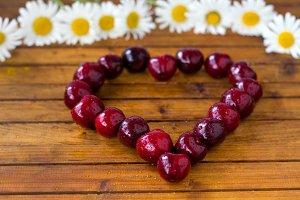 cherries,selective focus