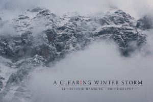 A clearing winter storm – VolumePack