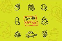 8 Doodle Icons. Ecology