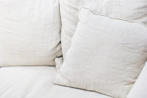 White square pillow