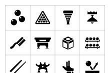 Set icons of billiards
