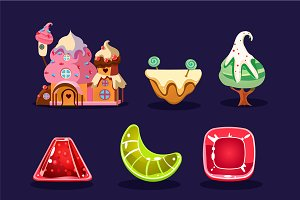 Cute sweet game elements