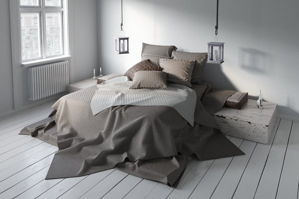 3D Furniture: evermotion - Bed 31 AM164