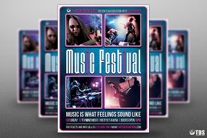 Music Festival Flyer Template V15