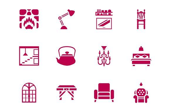 Furniture Interior Design Icon Set Icons Creative Market