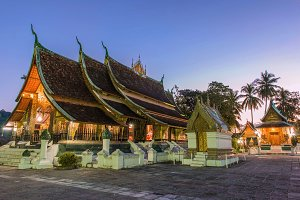 Wat Xieng thong temple in laos