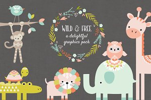 Wild and Free Vector Graphics