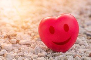 Smiles heart of love