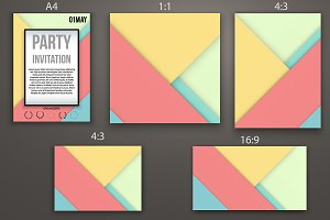 Set of Material Design Templates - 2