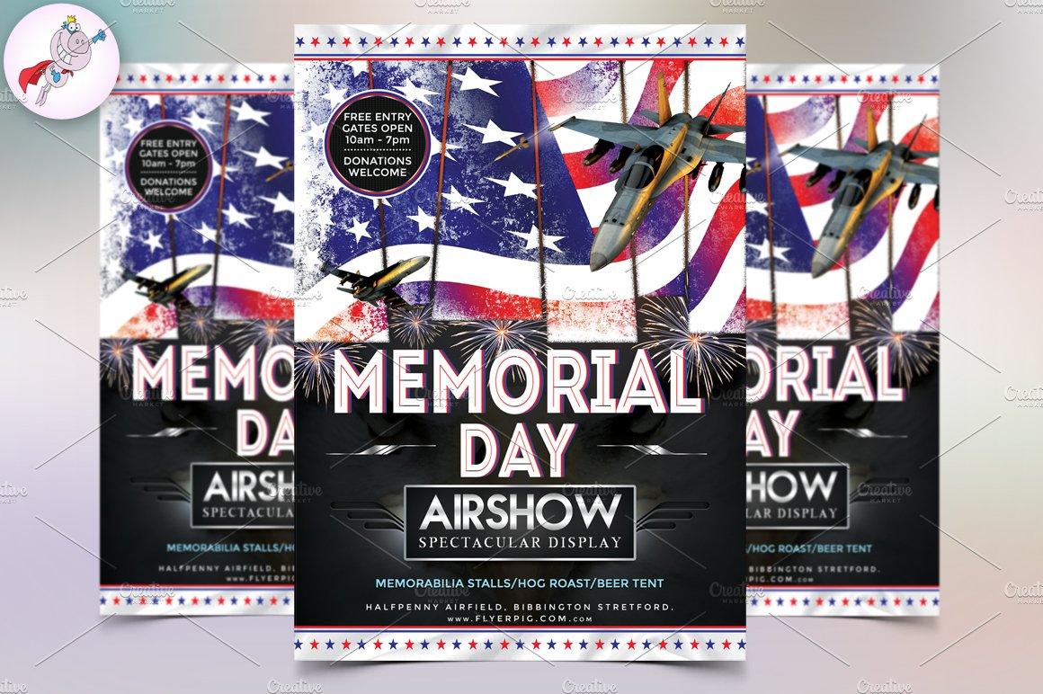 memorial day flyer template flyer templates creative market