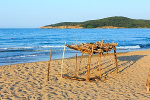 Summer sandy beach in Bulgaria.