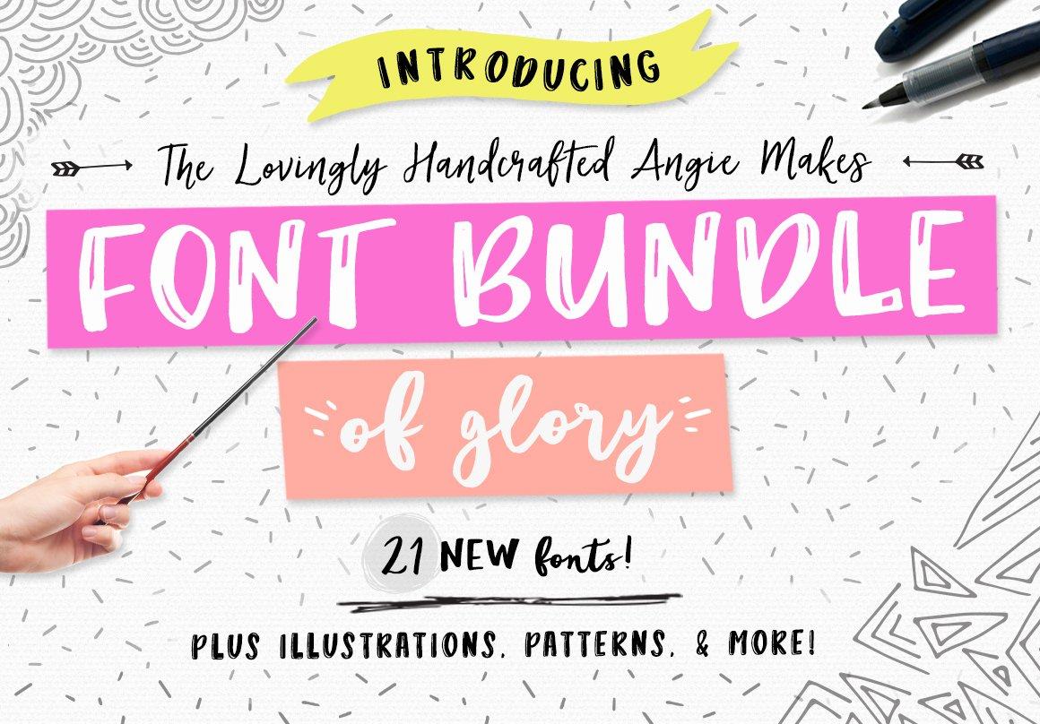 Angie Makes Font Bundle Of Glory Fonts Creative Market