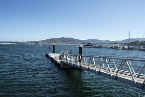 Pier to the Cies Islands