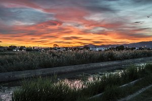 Sunset in grao de Castellon