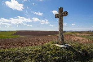 The cross in the field