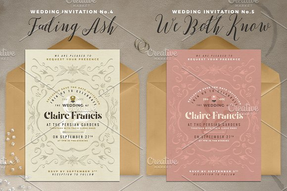 7 vintage deco wedding invitations i invitation templates