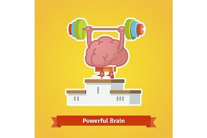 Strong powerful brain