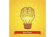 Brain lights up with powerful idea