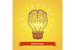 Brain lights up with powerful idea